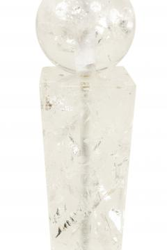 Pair of Continental Baltic Rock Crystal Obelisk Table Lamps - 1381289