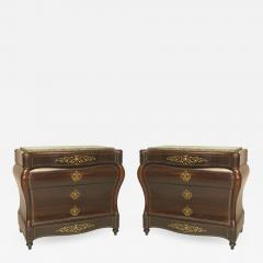 Pair of Continental Spanish Bombe Shaped Commodes - 742065