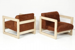 Pair of Cowhide Upholstered Club Chairs  - 1021511