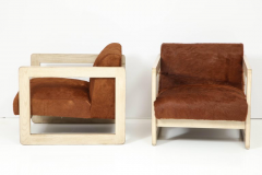 Pair of Cowhide Upholstered Club Chairs  - 1021512