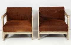 Pair of Cowhide Upholstered Club Chairs  - 1021513