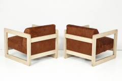 Pair of Cowhide Upholstered Club Chairs  - 1021514