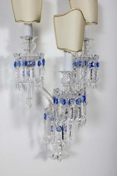 Pair of Crystal Sconces France 1930s - 1525528