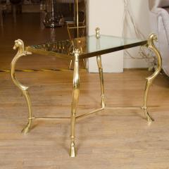 Pair of Curvilinear Brass Side Tables - 70192