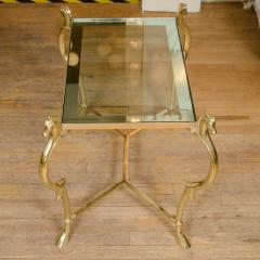 Pair of Curvilinear Brass Side Tables - 70194