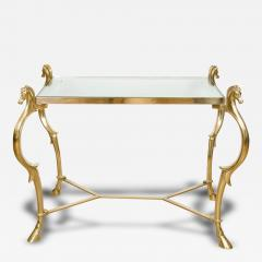 Pair of Curvilinear Brass Side Tables - 70365