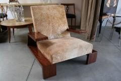 Pair of Custom 1970s Style Cowhide Armchairs - 925384
