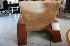 Pair of Custom 1970s Style Cowhide Armchairs - 925385