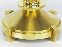 Pair of Custom Art Deco Inspired Brass Table Lamps - 82389