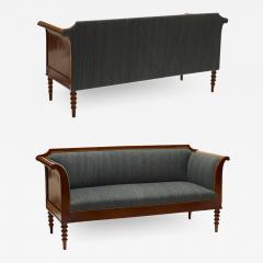 Pair of Danish Neo Antique Mahogany Sofas - 1806864