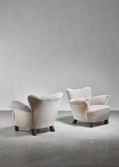 Pair of Danish easy chairs 1940s - 892747