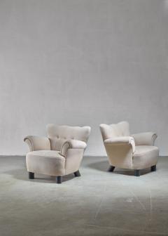 Pair of Danish easy chairs 1940s - 892749