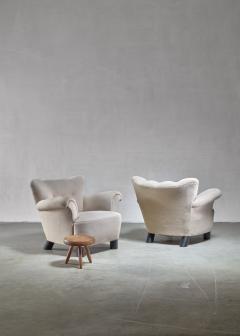 Pair of Danish easy chairs 1940s - 892750
