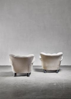 Pair of Danish easy chairs 1940s - 892753