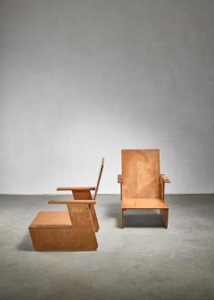 Pair of De Stijl era Modernist chairs Dutch - 1186402