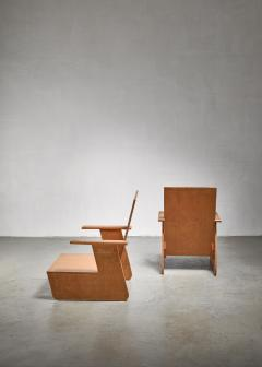 Pair of De Stijl era Modernist chairs Dutch - 1186404