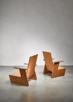 Pair of De Stijl era Modernist chairs Dutch - 1186405