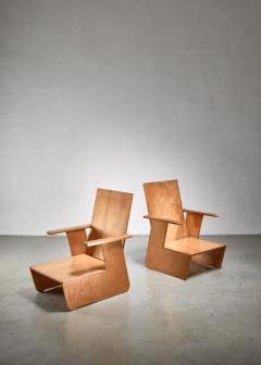 Pair of De Stijl era Modernist chairs Dutch - 1186406