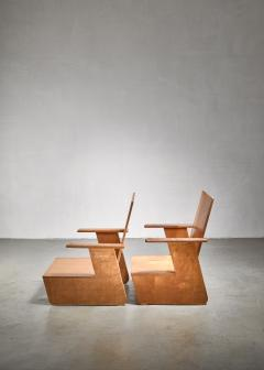 Pair of De Stijl era Modernist chairs Dutch - 1186408
