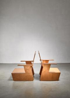 Pair of De Stijl era Modernist chairs Dutch - 1186409