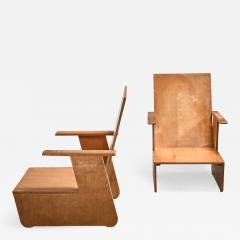Pair of De Stijl era Modernist chairs Dutch - 1187096