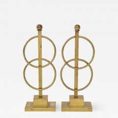 Pair of Decorative Andirons Fireplace accessories - 1797825