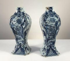 Pair of Delft Bottle Form Vases 18th Century - 341622