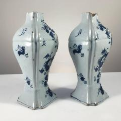 Pair of Delft Bottle Form Vases 18th Century - 341623