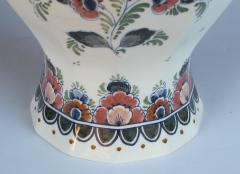 Pair of Delft Hand painted Covered Jars Signed by the artist P Verhoeve - 1235639