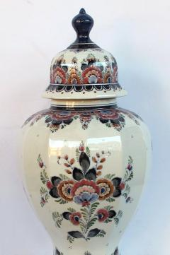 Pair of Delft Hand painted Covered Jars Signed by the artist P Verhoeve - 1235643