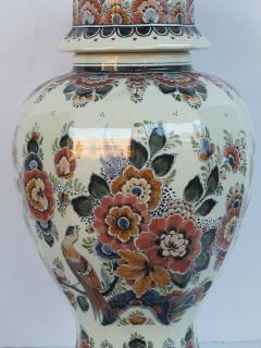 Pair of Delft Hand painted Covered Jars Signed by the artist P Verhoeve - 1235645