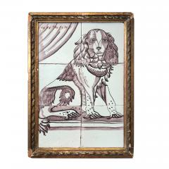 Pair of Delft Tile Pictures of Dog and Cat - 1515849