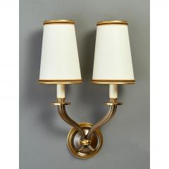 Pair of Delisle Fluted Bronze Sconces France 1950s - 951638