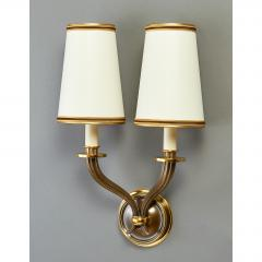 Pair of Delisle Fluted Bronze Sconces France 1950s - 951661