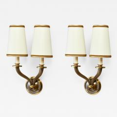 Pair of Delisle Fluted Bronze Sconces France 1950s - 952852