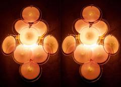 Pair of Disc Murano Glass Sconces or Wall Light 1970s - 1910293
