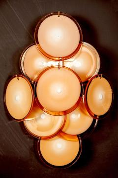 Pair of Disc Murano Glass Sconces or Wall Light 1970s - 1910294