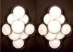 Pair of Disc Murano Glass Sconces or Wall Light 1970s - 1910296
