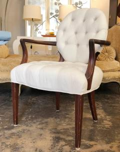 Pair Of Dorothy Draper Style Tufted Armchairs   499357