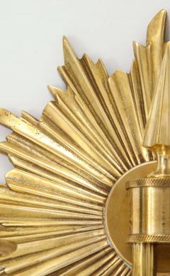 Pair of Double Arm Sunburst Sconces - 1825401