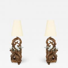 Pair of Driftwood Lamp Tables - 991854