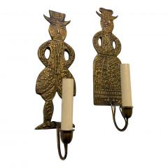 Pair of Dutch Figurative Sconces - 1168840