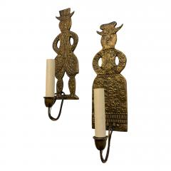Pair of Dutch Figurative Sconces - 1168841