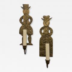 Pair of Dutch Figurative Sconces - 1169076