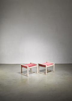 Pair of Dutch Modernist wooden stools 1920s - 1185665
