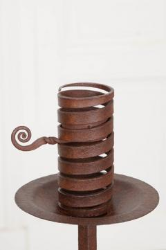 Pair of Dutch Wrought Iron Courting Candlesticks - 1225794