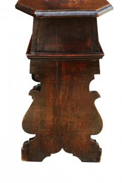 Pair of Early 18th Century Renaissance Style Sgabello Hall Chairs - 593739