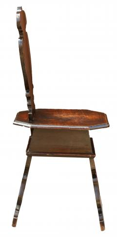 Pair of Early 18th Century Renaissance Style Sgabello Hall Chairs - 593741