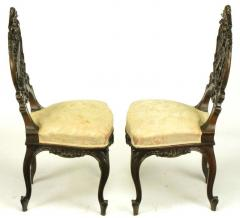 Pair of Early 1900s Hand Carved Walnut French Regency Music Chairs - 270248