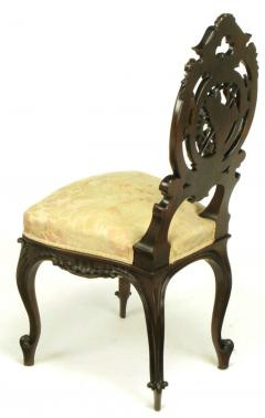 Pair of Early 1900s Hand Carved Walnut French Regency Music Chairs - 270249